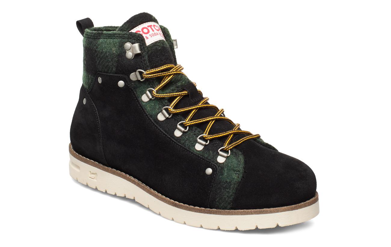 Scotch & Soda Shoes Borrel Mid laceboot - BLACK+BLK/GREEN