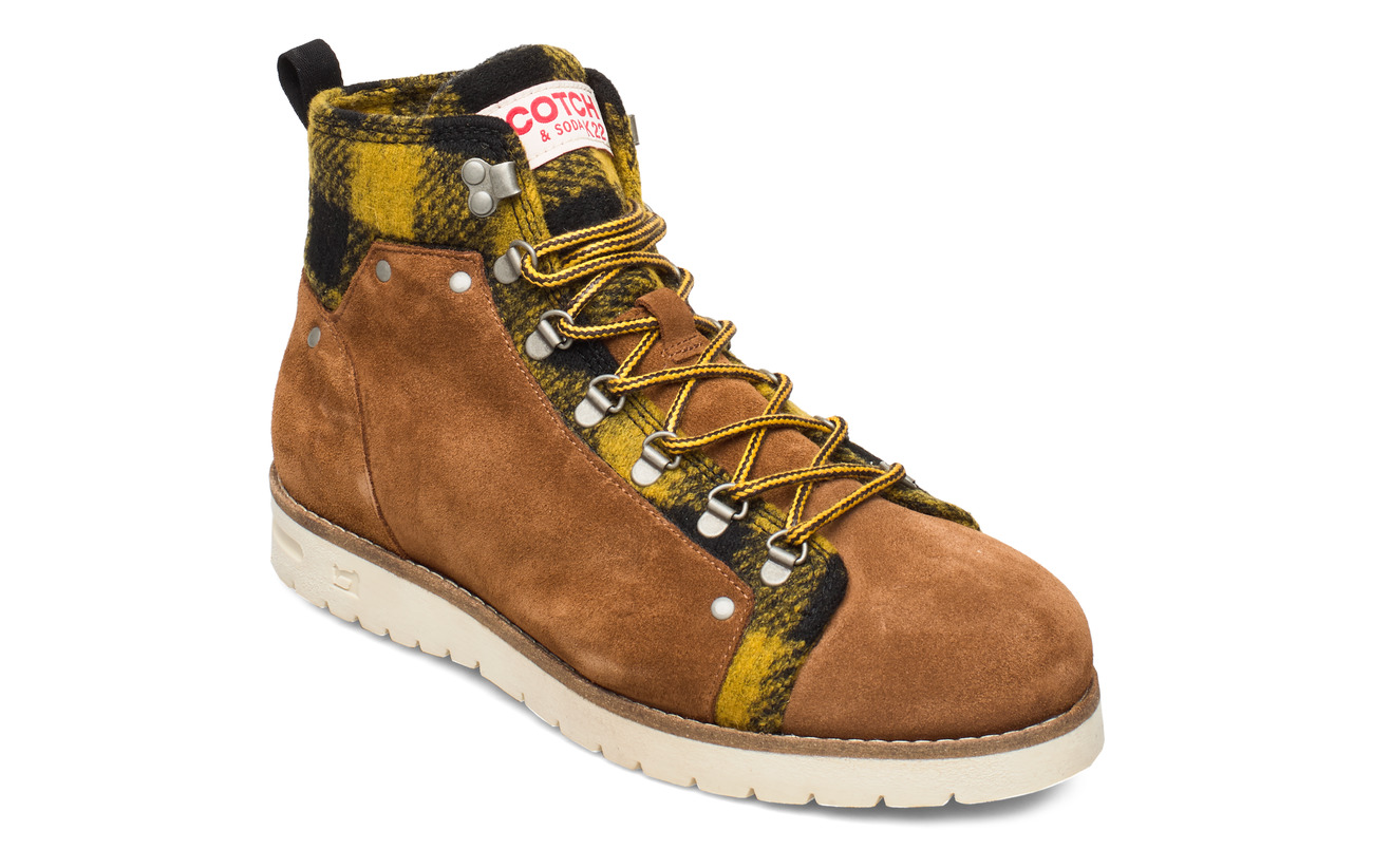Scotch & Soda Shoes Borrel Mid laceboot - COGNAC+BLK/CAMEL