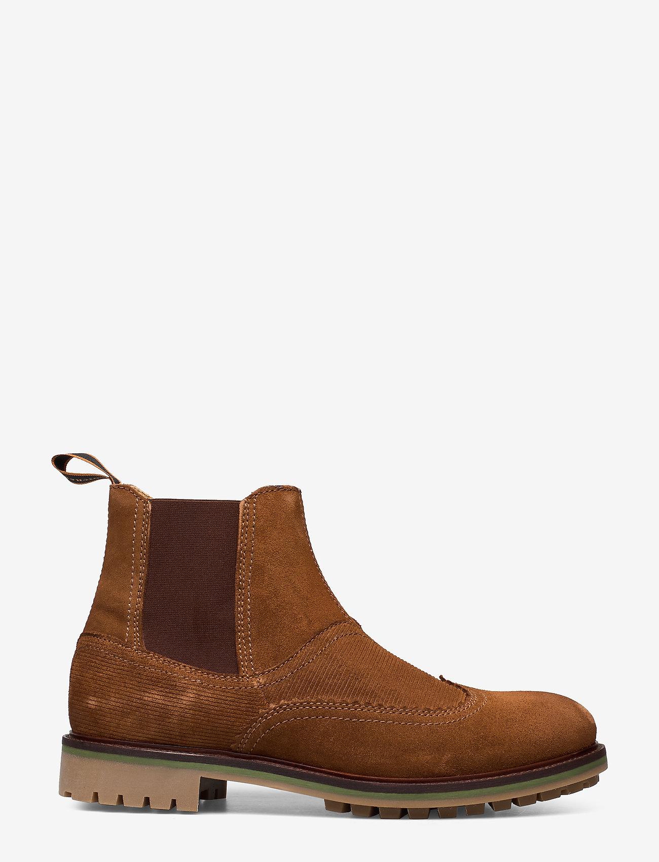 Scotch & Soda Shoes - Borrel Mid laceboot - chelsea boots - cognac - 1