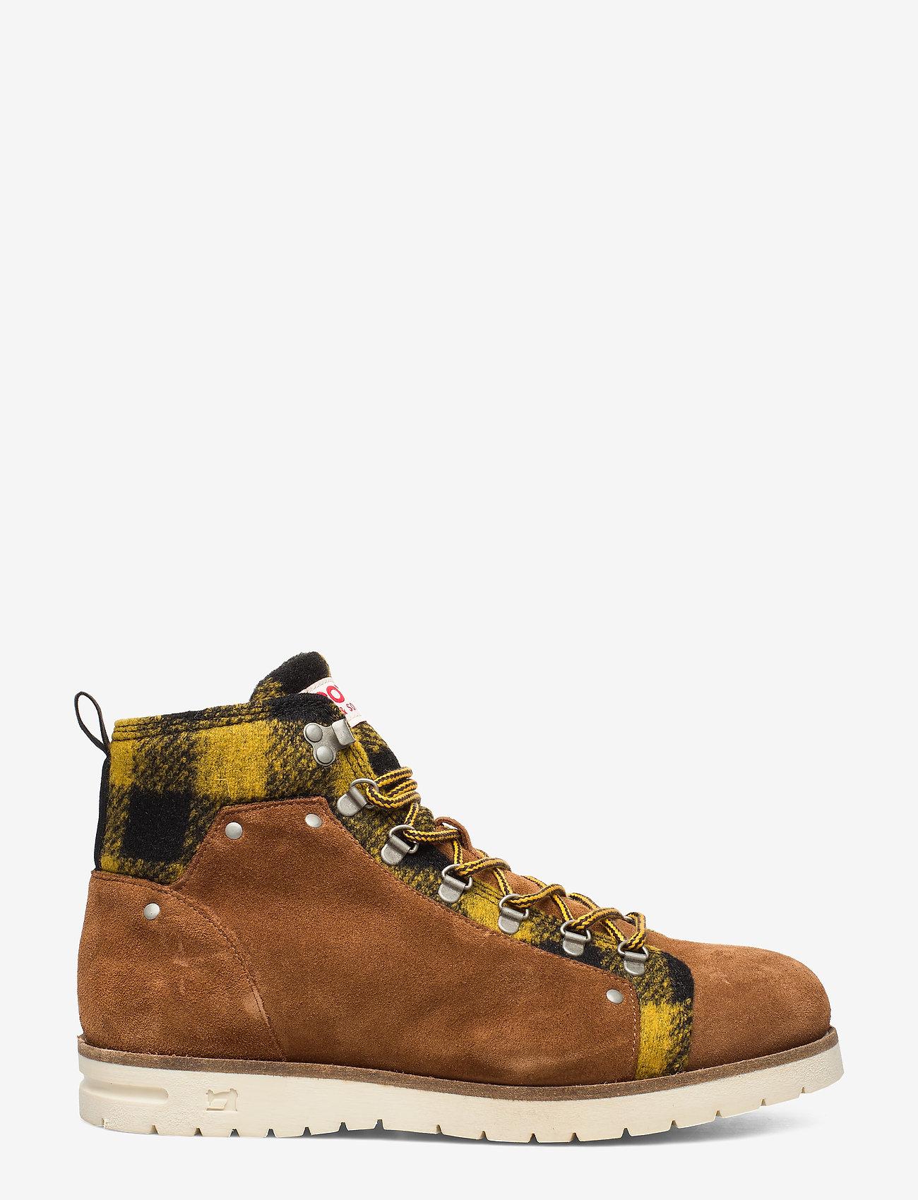 Scotch & Soda Shoes - Borrel Mid laceboot - bottes lacées - cognac+blk/camel - 1