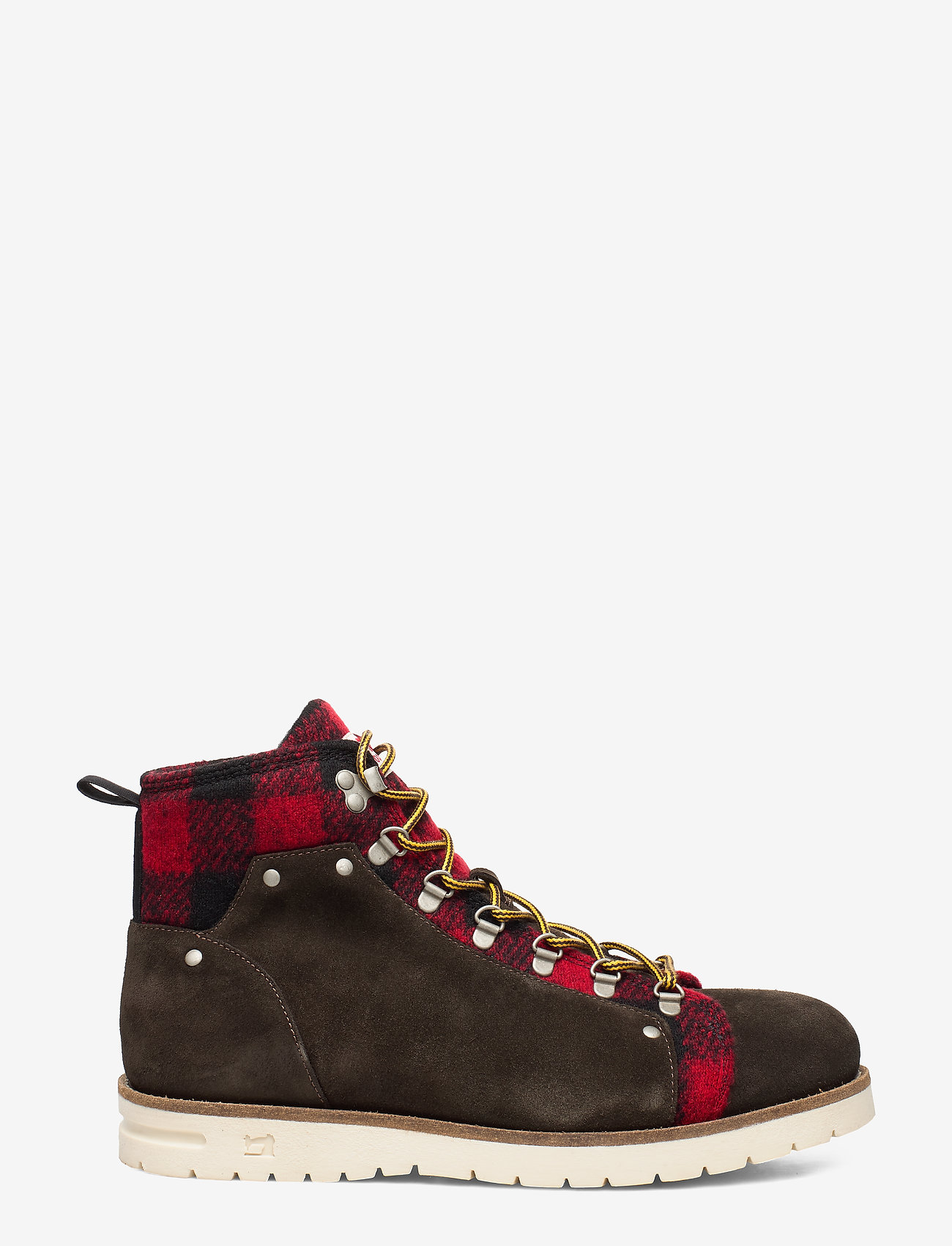 Scotch & Soda Shoes - Borrel Mid laceboot - veter schoenen - dk brown+blk/red - 1