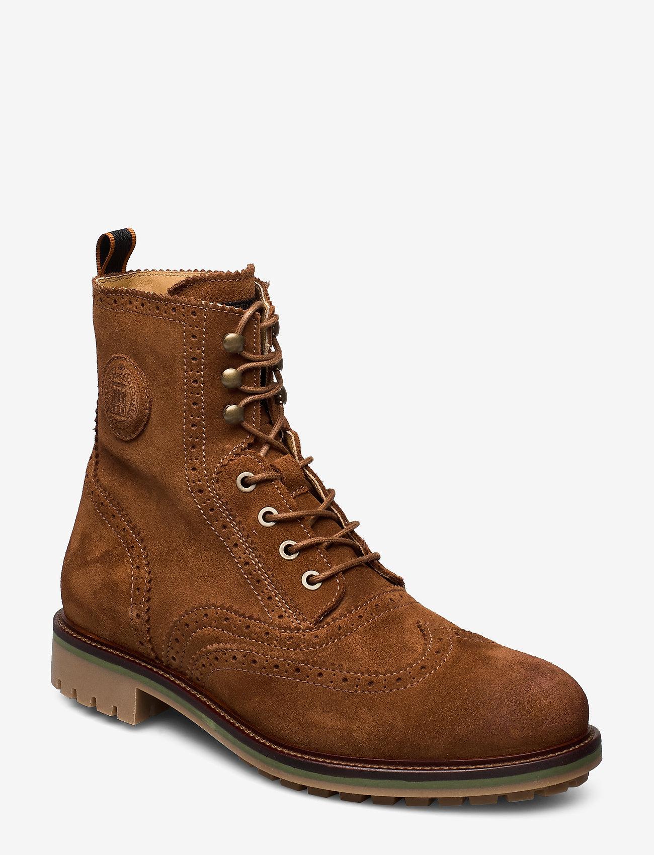 Scotch & Soda Shoes - Borrel Mid laceboot - laced boots - cognac - 0