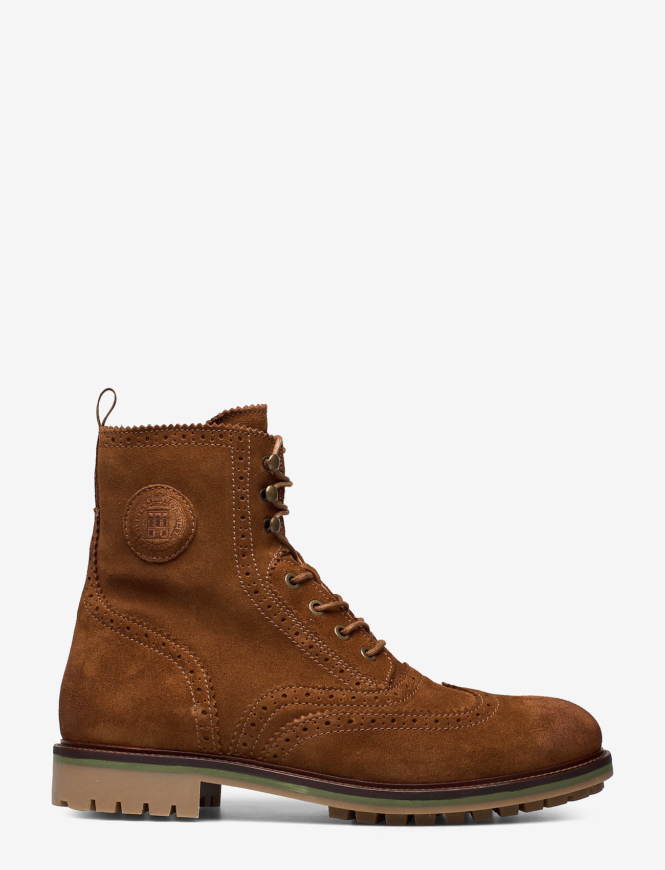 Scotch & Soda Shoes - Borrel Mid laceboot - laced boots - cognac - 1