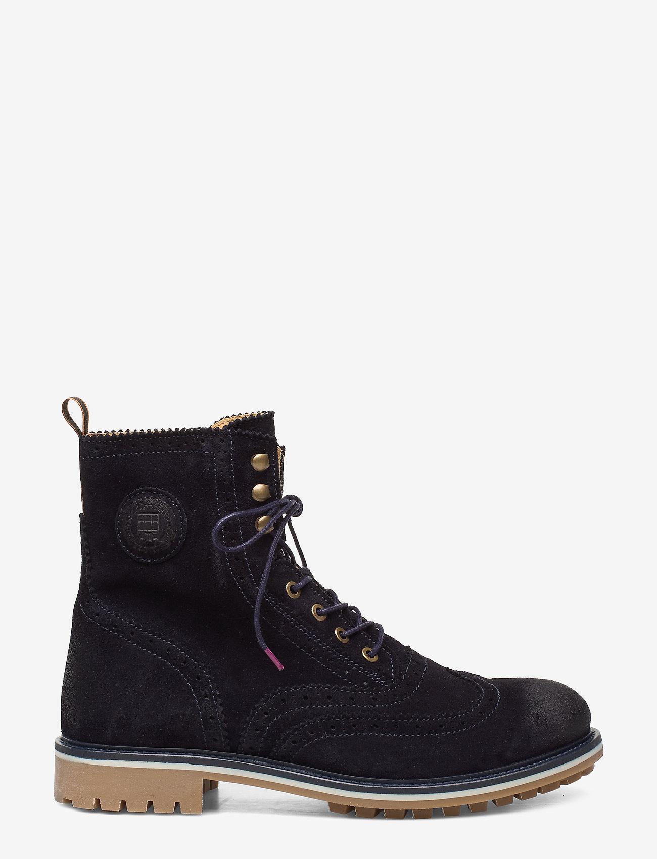Scotch & Soda Shoes - Borrel Mid laceboot - bottes lacées - marine - 1