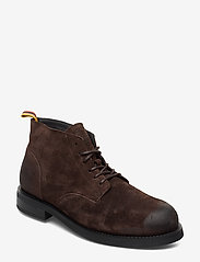 Scotch & Soda Shoes - Daan Low lace - laced boots - dark brown - 0