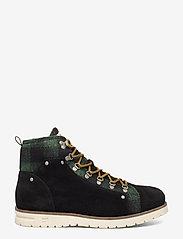 Scotch & Soda Shoes - Borrel Mid laceboot - laced boots - black+blk/green - 1