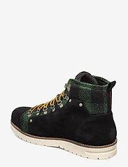 Scotch & Soda Shoes - Borrel Mid laceboot - laced boots - black+blk/green - 2