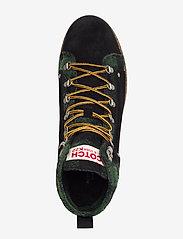 Scotch & Soda Shoes - Borrel Mid laceboot - laced boots - black+blk/green - 3