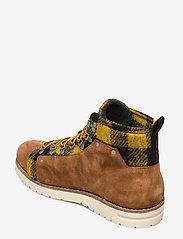 Scotch & Soda Shoes - Borrel Mid laceboot - laced boots - cognac+blk/camel - 2
