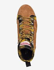 Scotch & Soda Shoes - Borrel Mid laceboot - laced boots - cognac+blk/camel - 3