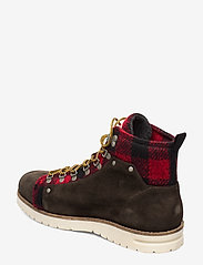 Scotch & Soda Shoes - Borrel Mid laceboot - laced boots - dk brown+blk/red - 2