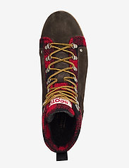 Scotch & Soda Shoes - Borrel Mid laceboot - veter schoenen - dk brown+blk/red - 3