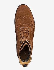 Scotch & Soda Shoes - Borrel Mid laceboot - laced boots - cognac - 3