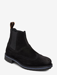 Borrel Mid laceboot - BLACK