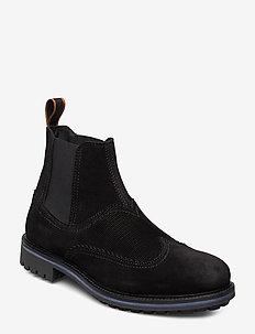 Borrel Mid laceboot - chelsea boots - black