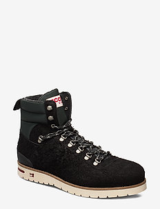 Borrel Mid laceboot - veter schoenen - black
