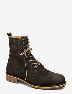 Borrel Mid laceboot - FOREST GREEN
