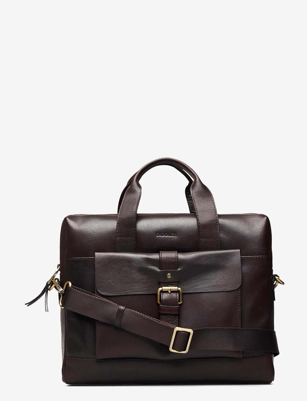 Saddler - Adam - briefcases - dk.brown - 0