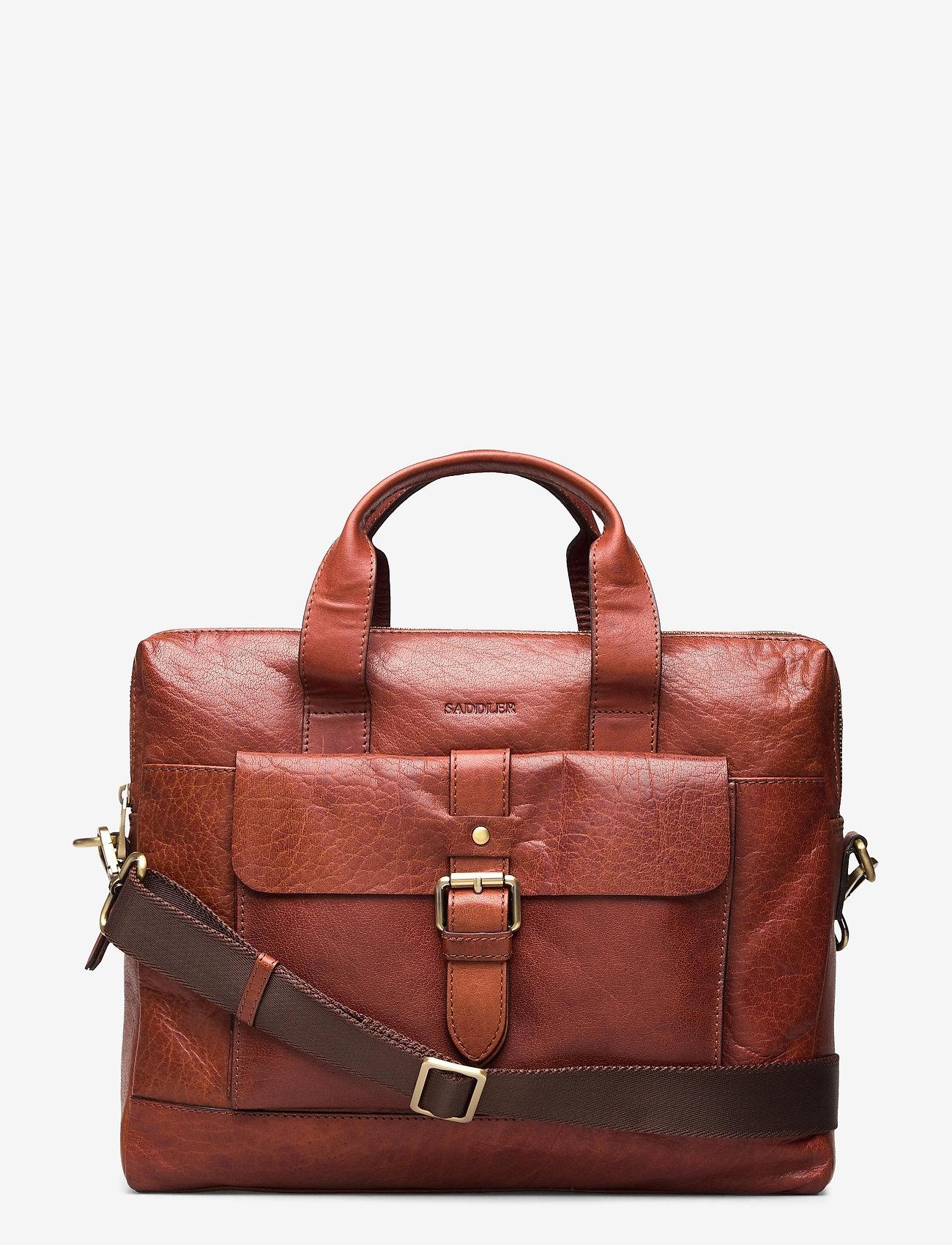 Saddler - Adam - briefcases - midbrown - 0