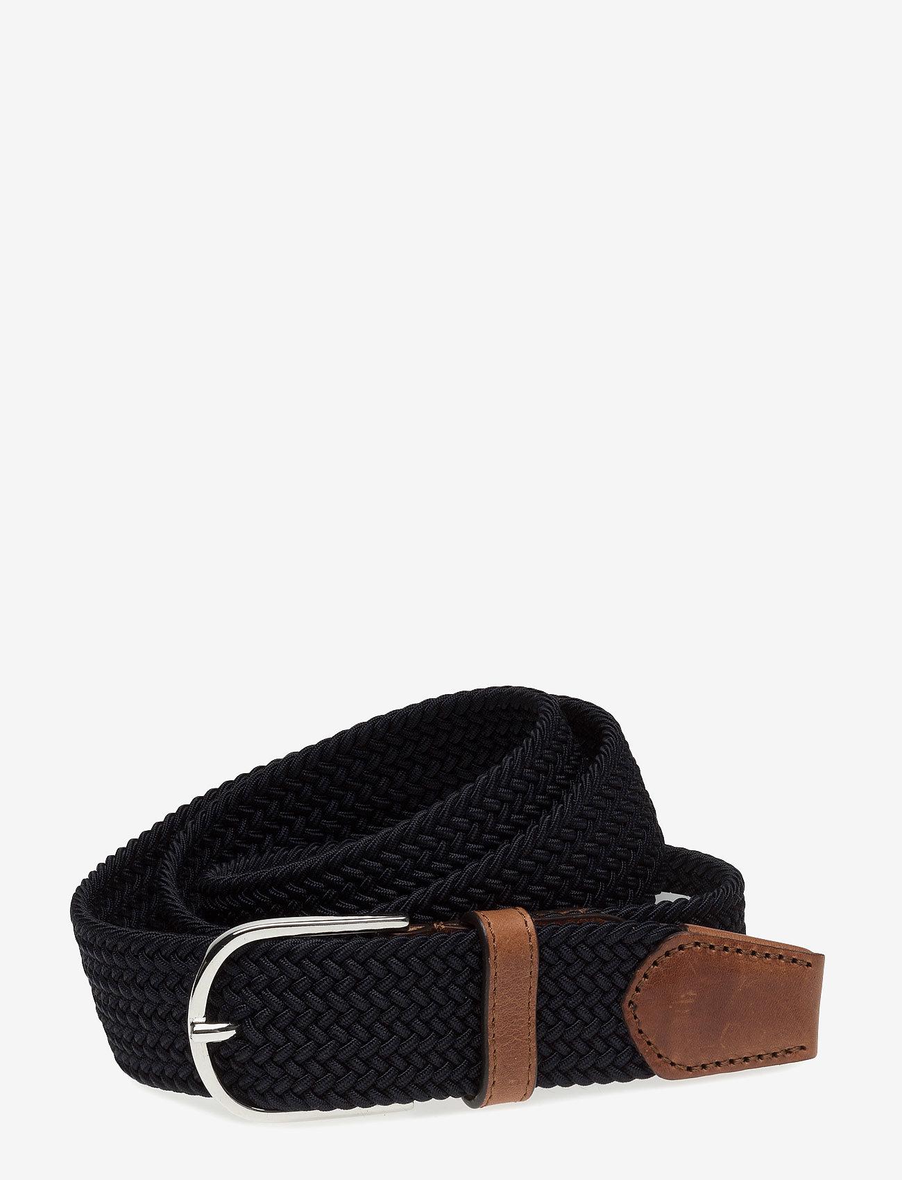 Saddler - SDLR Belt Male - belts - navy - 0
