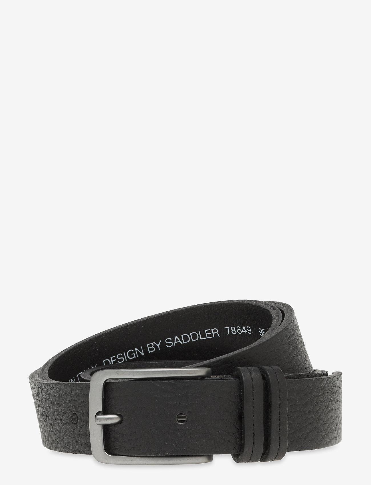 Saddler - Sdlr Belt Male - belts - black - 0