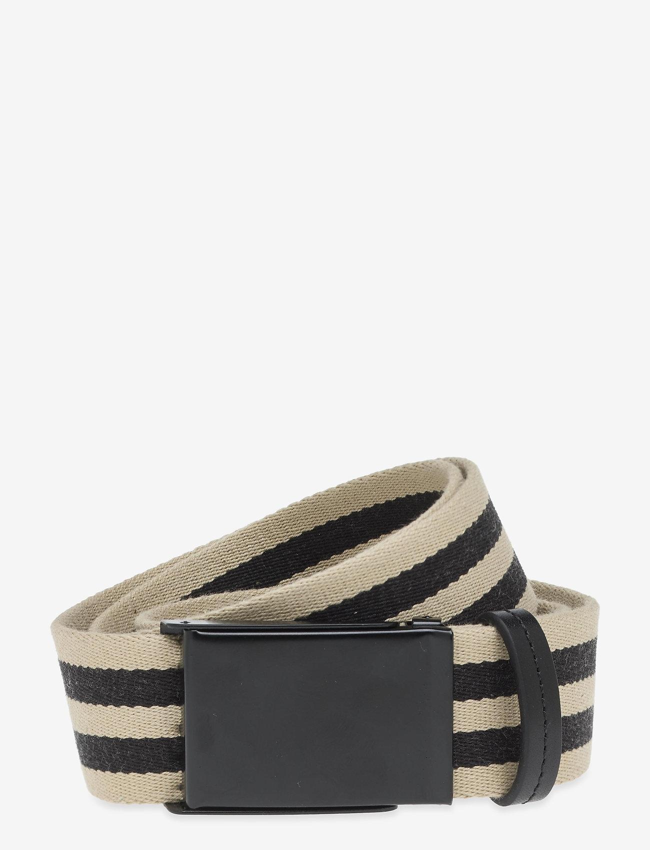 Saddler - Filipstad - braided belts - beige/black - 0