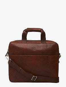 Sortland - laptop bags - midbrown