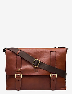 RYAN - shoulder bags - midbrown