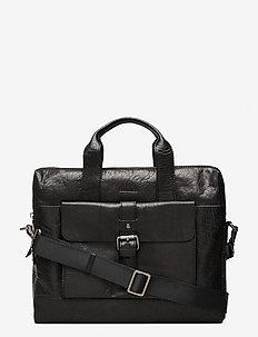 Adam - briefcases - black