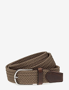 SDLR Belt Male - gevlochten riemen - walnut