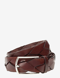 Alec - braided belts - brown