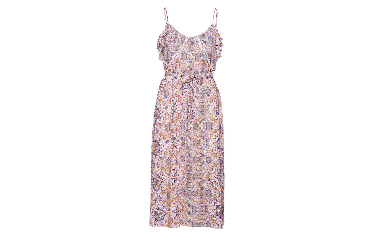 100 Viscose Rose Dress Tile Seafolly Boho Midi Wild W08PTCWpxn