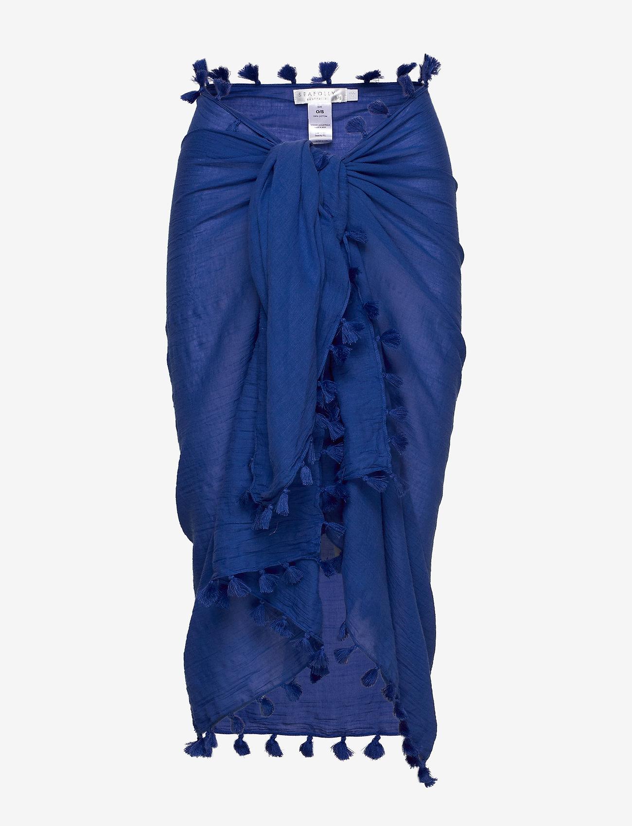 Seafolly - Cotton Gauze Sarong - strandtøj - cobaltblue - 0