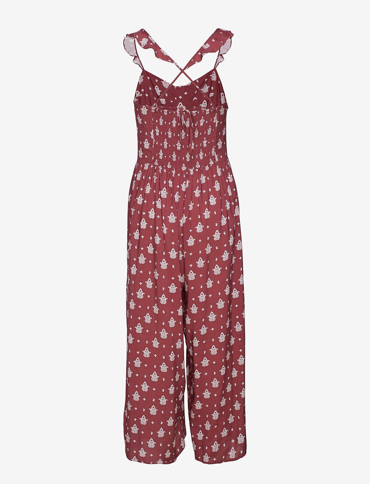 Seafolly - Antique Paisley Jumpsuit - strandkläder - plum