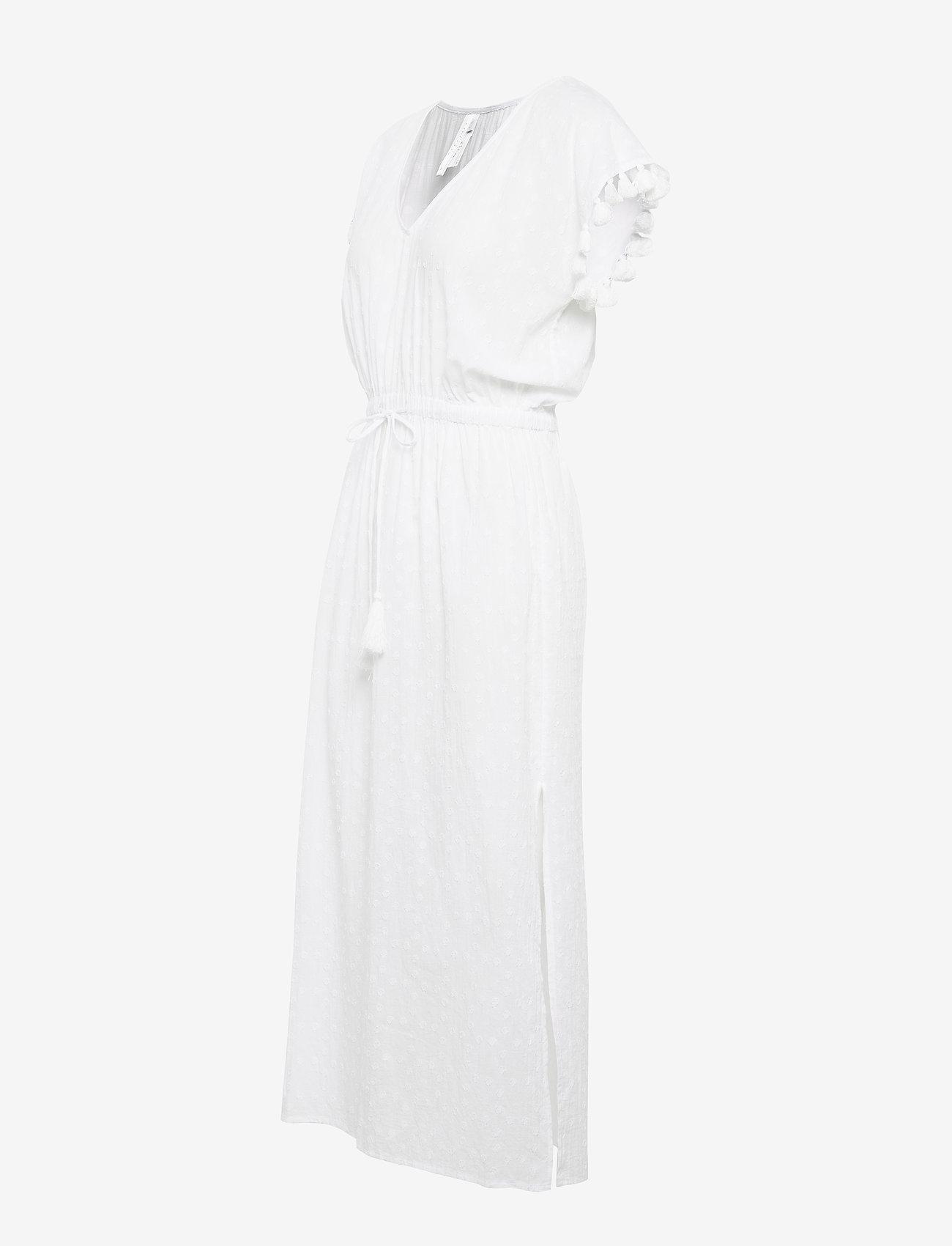 Seafolly Textured Cotton Maxi Kaftan - Badkläder White