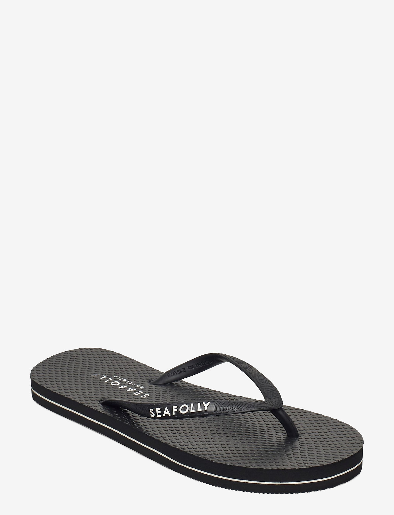 Seafolly - Walk about Divine Thong - teenslippers - black - 0