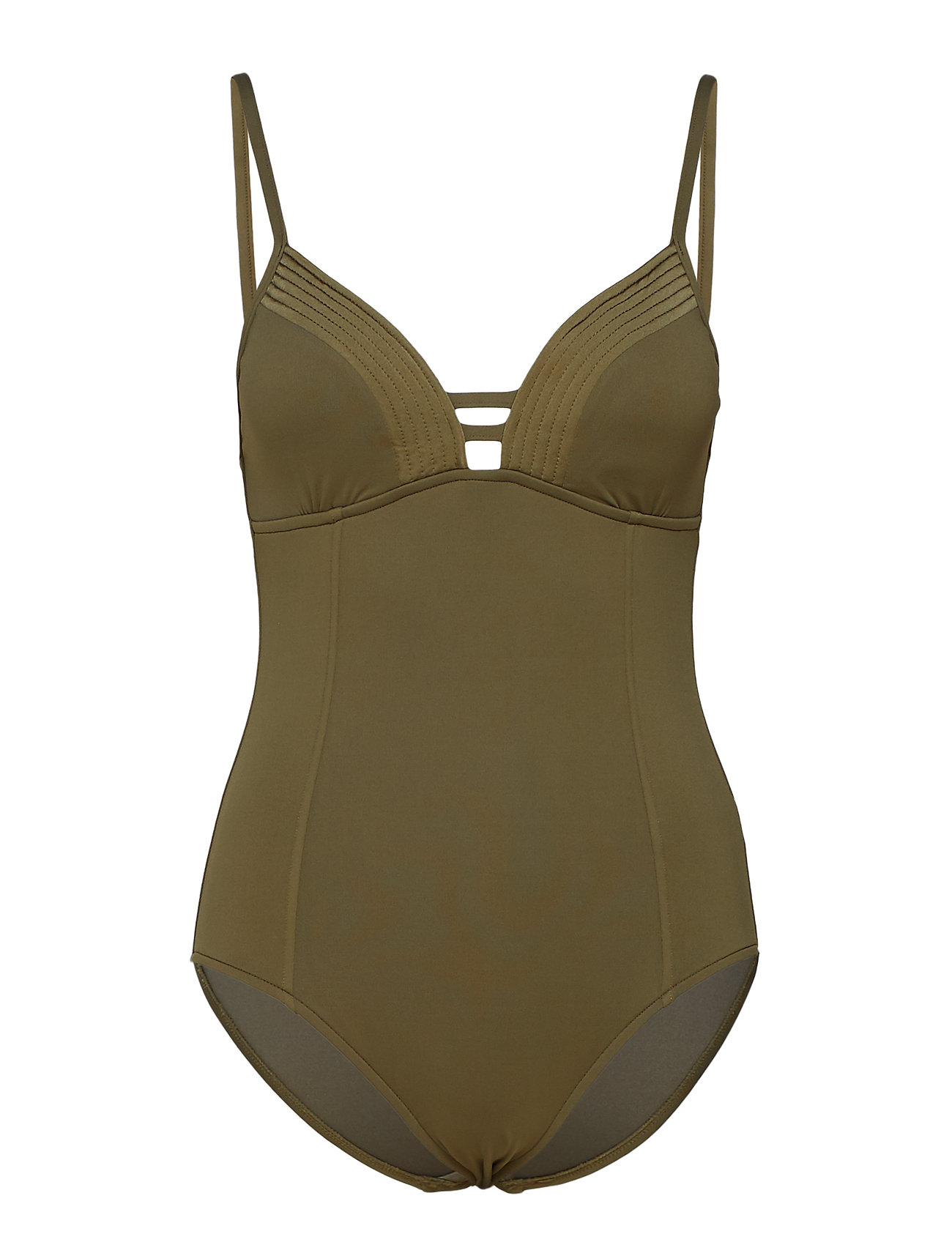 Seafolly Quilted Maillot - DARK OLIVE
