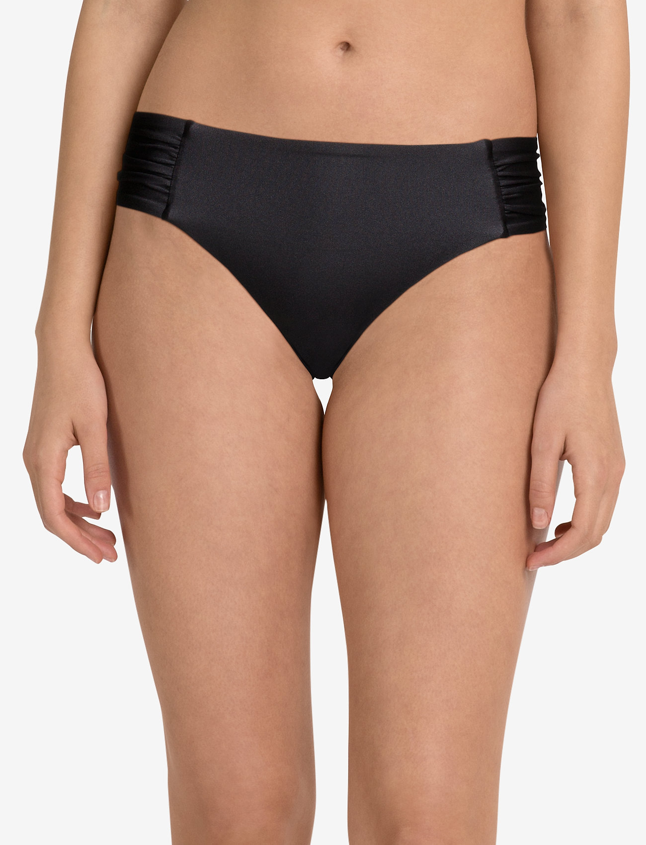 Seafolly Shimmer Ruched Side Retro - BLACK
