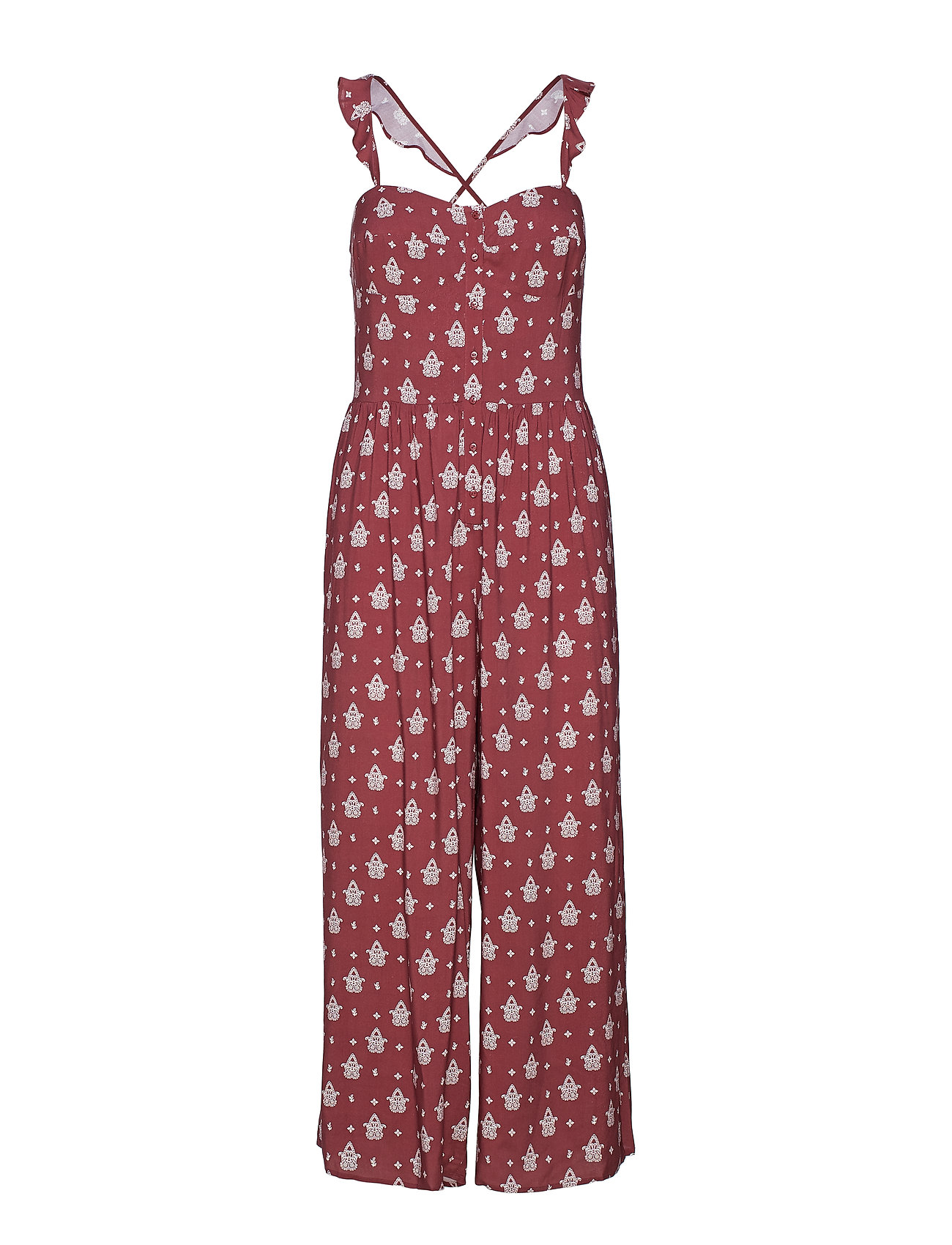 Seafolly Antique Paisley Jumpsuit - PLUM