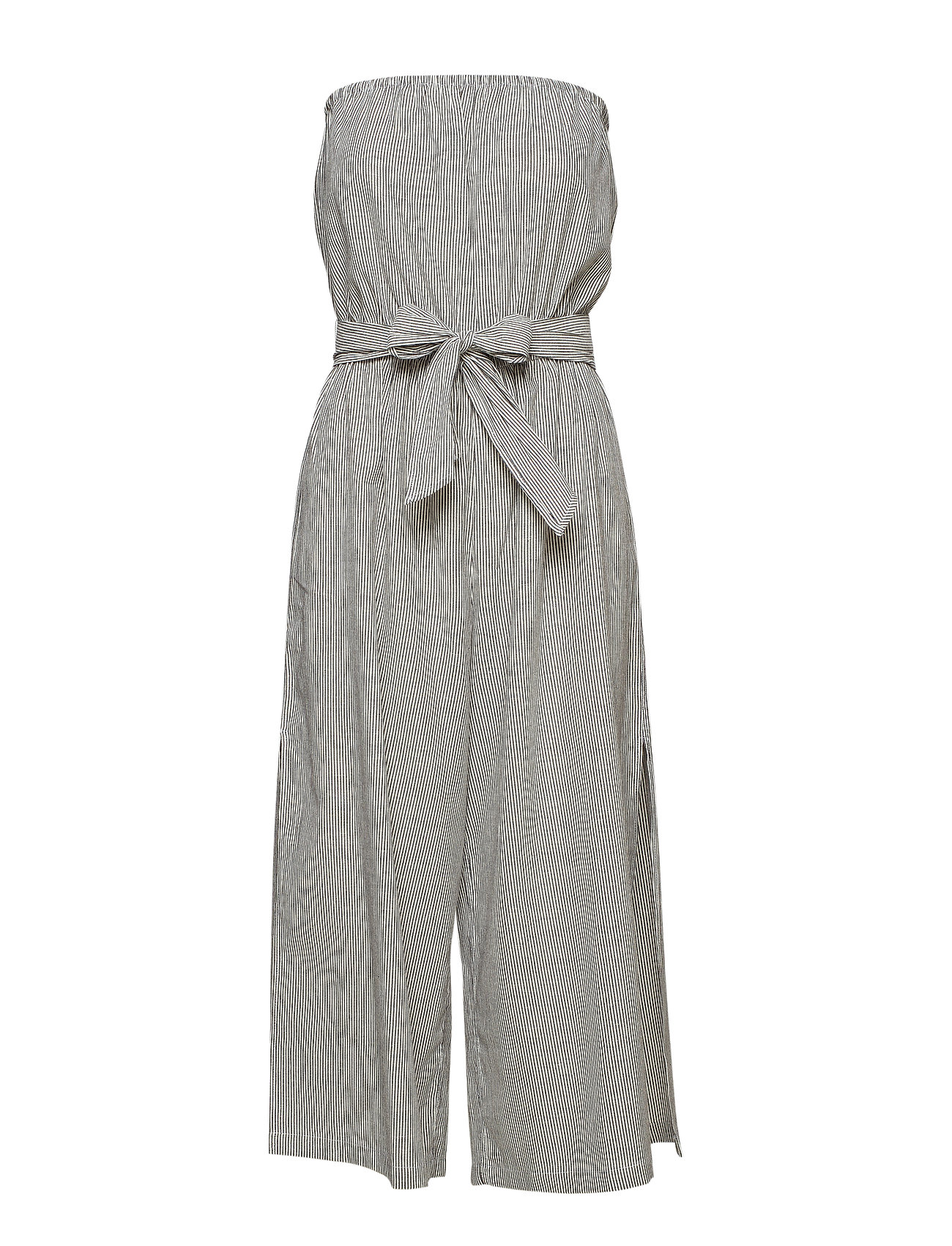 Seafolly Stripe Strapless Jumpsuit - WHITE