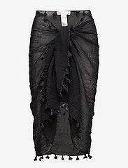 Seafolly - Cotton Gauze Sarong - strandtøj - black - 0
