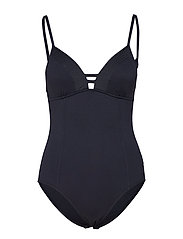 Quilted Maillot - BLACK