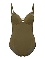 Quilted Maillot - DARK OLIVE