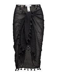 Cotton Gauze Sarong - BLACK
