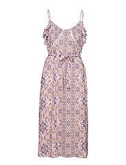 Boho Tile Midi Dress - WILD ROSE