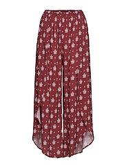 Antique Paisley Wrap Pant - PLUM