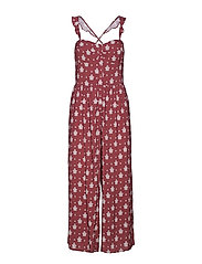 Antique Paisley Jumpsuit - PLUM