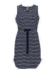 Vacay Tank Dress - NVY/WHT ST
