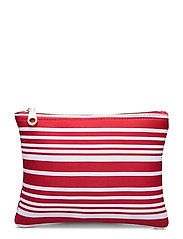 Carried Away Classic Stripe Bikini Bag - CHILLI