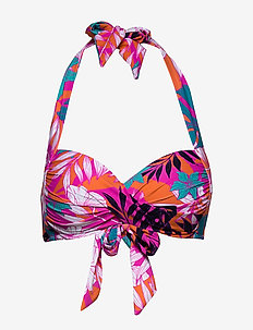 Twist Soft Cup Halter - bikini overdele - ultra pink